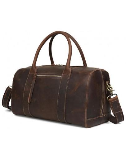 Фотография Кожаная коричневая сумка мужская для ручной клади t3070