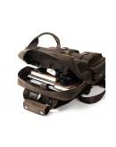 Фотография Коричневый винтажный кожаный мужской рюкзак t3081DB