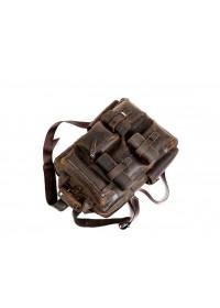 Коричневый винтажный кожаный мужской рюкзак t3081DB