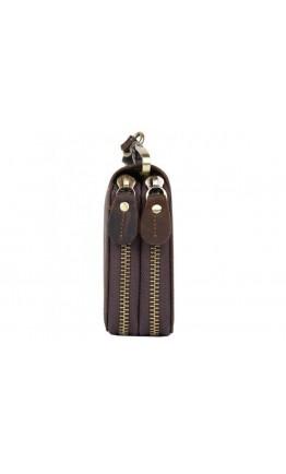 Коричневый мужской винтажный клатч T4009