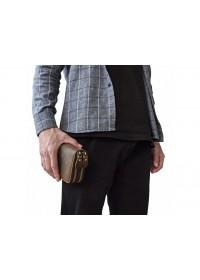 Мужской винтажный клатч на 2 отделения TIDING BAG T4009R