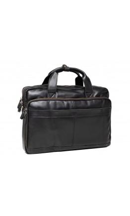 Черная кожаная мужская деловая сумка Tiding Bag t50011