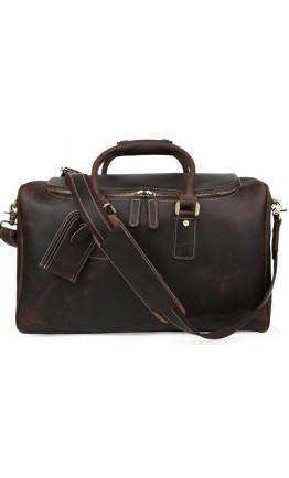 Большая мужская дорожная кожаная сумка t71152