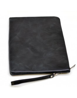 Черная кожаная папка формата А4 с петлей в руку TARWA TA-2559-4lx