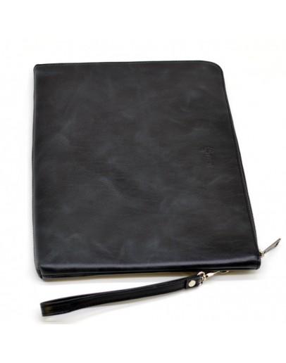 Фотография Черная кожаная папка формата А4 с петлей в руку TARWA TA-2559-4lx