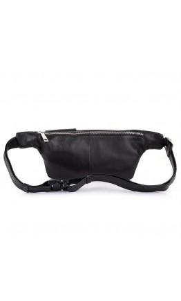 Черная кожаная сумка на пояс Tarwa TA-3029-4lx