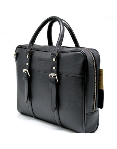 Фотография Деловой черный кожаный портфель TARWA TA-4764-4lx