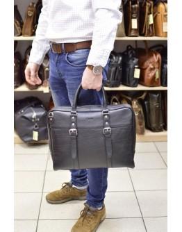 Деловой черный кожаный портфель TARWA TA-4764-4lx