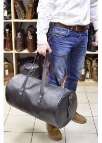 Дорожная черная мужская сумка - бочка TARWA TA-5564-4lx