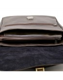 Фотография Коричневая вместительная кожаная сумка на плечо Tarwa TC-1046-4lx