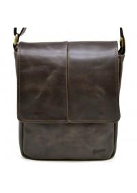 Коричневая мужская кожаная плечевая сумка Tarwa TC-1301-3md
