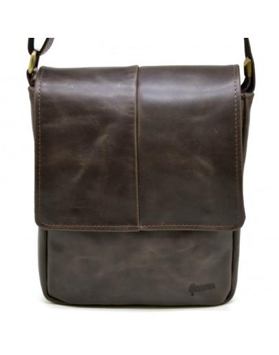 Фотография Коричневая мужская кожаная плечевая сумка Tarwa TC-1301-3md