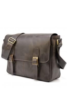 Коричневая удобная мужская сумка на плечо Tarwa TC-7022-3md