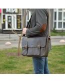 Фотография Коричневая удобная мужская сумка на плечо Tarwa TC-7022-3md