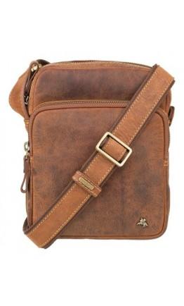 Кожаная рыжая мужская плечевая сумка Visconti TC68 Riley (Havana Tan)