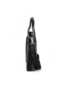 Кожаная черная сумка мужская для документов и ноутбуков tid1057