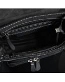 Фотография Черная винтажная кожаная сумка на плечо Tiding bag tid3027-22