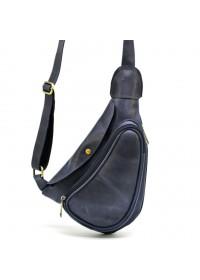 Синяя винтажаная мужская сумка - слинг Tarwa TK-3026-3md