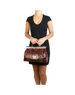 Фирменная сумка - саквояж Tuscany Leather MONA-LISA TL10034 red