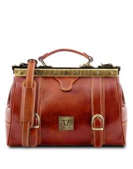 Сумка - саквояж медового цвета Tuscany Leather MONA-LISA TL10034 honey