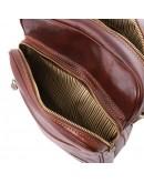 Фотография Коричневая вместительная мужская сумка на плечо Tuscany Leather Oscar TL140680
