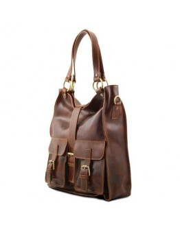 Темно-коричневая женская вместительная сумка Tuscany Leather MELISSA TL140928