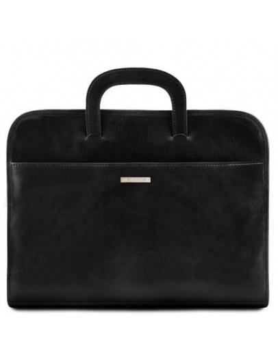 Фотография Мужская тонкая сумка портфель Tuscany Leather Sorrento TL141022 black