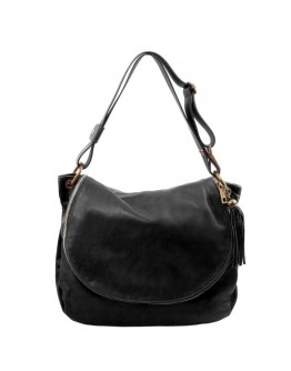 Женская кожаная черная сумка Tuscany Leather TL Bag TL141110 black