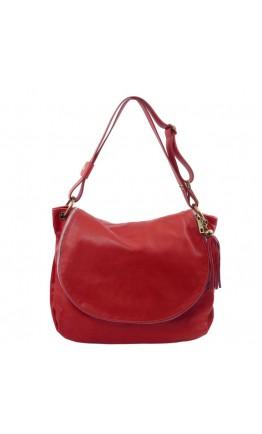 Женская кожаная красная сумка Tuscany Leather TL Bag TL141110 red