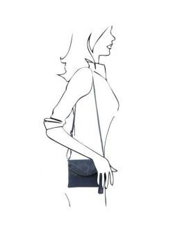 Темно-синяя женская сумочка Tuscany Leather Young Bag TL141153 dark blue
