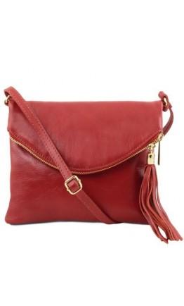 Маленькая женская сумочка Tuscany Leather Young Bag TL141153 red