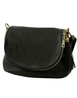 Черная женская кожаная сумка на плечо Tuscany Leather Bag TL141223