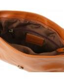 Фотография Рыжая женская кожаная сумка Tuscany Leather Bag TL141223 con