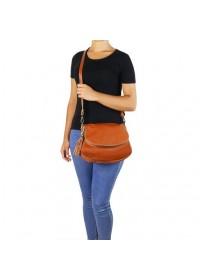 Рыжая женская кожаная сумка Tuscany Leather Bag TL141223 con