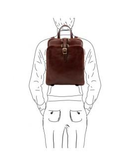 Оригинальный кожаный фирменный мужской рюкзак Tuscany leather Taipei TL141239