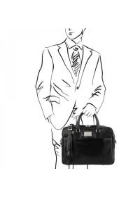 Черная кожаная сумка портфель Tuscany Leather TL141241-2