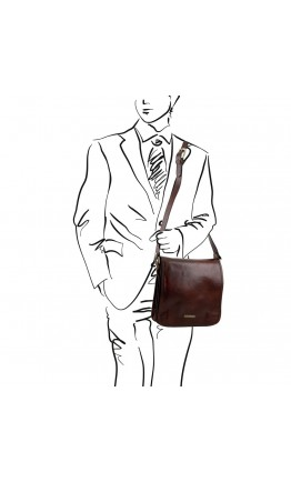 Вместительный кожаный мужской мессенджер Tuscany Leather TL141260