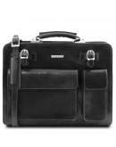 Фотография Кожаный черный мужской портфель Tuscany Leather Venezia TL141268 black