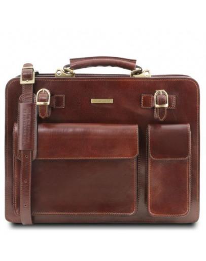 Фотография Мужской коричневый фирменный оригинальный портфель Tuscany Leather Venezia TL141268 brown