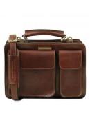 Фотография Кожаная коричневая женская сумка Tuscany Leather TL141270
