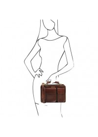 Кожаная коричневая женская сумка Tuscany Leather TL141270