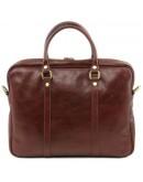 Фотография Черная кожаная сумка для ноутбука Tuscany Leather Prato TL141283 black