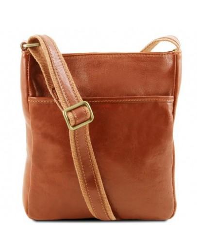 Фотография Мужская сумка на плечо медового цвета Tuscany Leather TL141300 honey