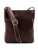 Фотография Темна-коричневая мужская кожаная сумка на плечо Tuscany Leather TL141300 bbrown