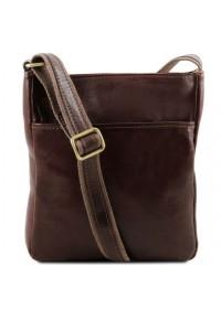 Темна-коричневая мужская кожаная сумка на плечо Tuscany Leather TL141300 bbrown