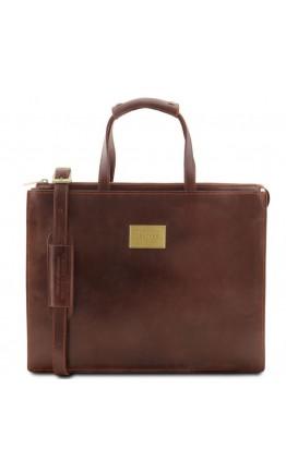 Женский коричневый портфель Tuscany Leather Palermo TL141343