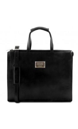 Женский черный портфель Tuscany Leather Palermo TL141343 black