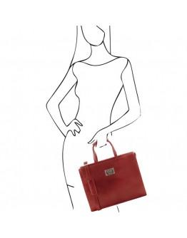 Женский красный портфель Tuscany Leather Palermo TL141343 red