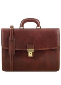 Кожаный портфель на одно отделение Tuscany Leather TL141351