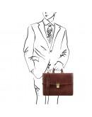 Фотография Кожаный портфель на одно отделение Tuscany Leather TL141351